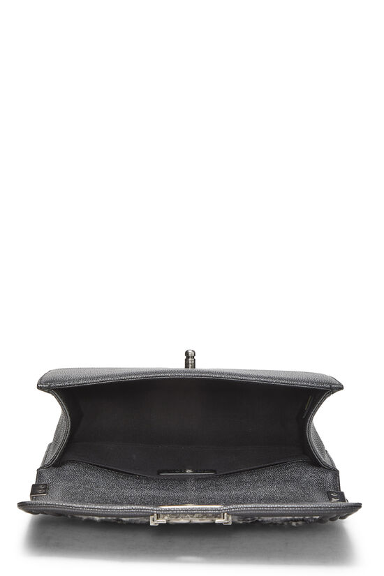 Black Leather & Tweed Boy Bag Medium, , large image number 6
