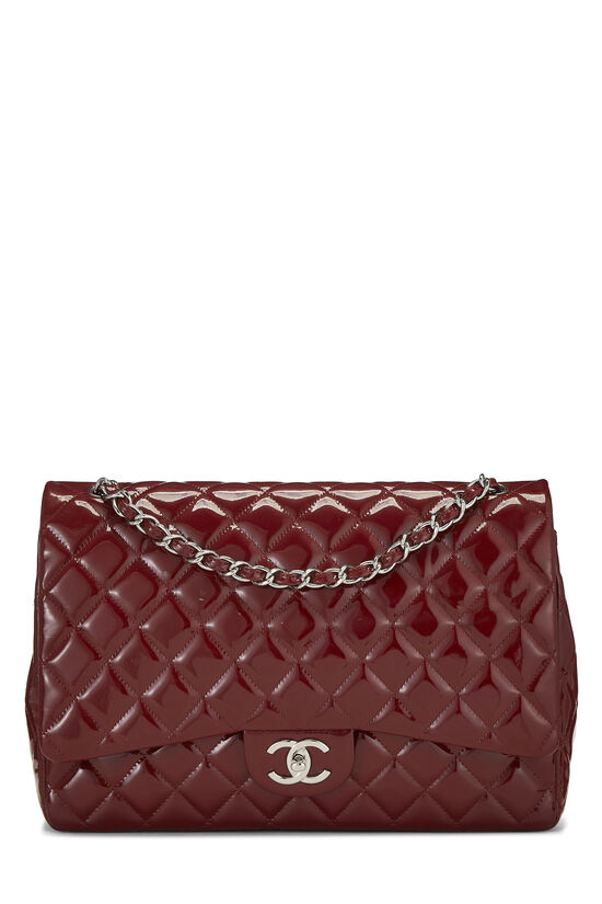 Red Quilted Patent Leather New Classic Double Flap Maxi, , large image number 0