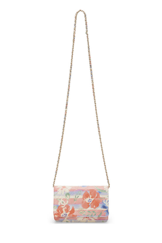 Multicolor Floral Quilted Lambskin Wallet on Chain (WOC), , large image number 6