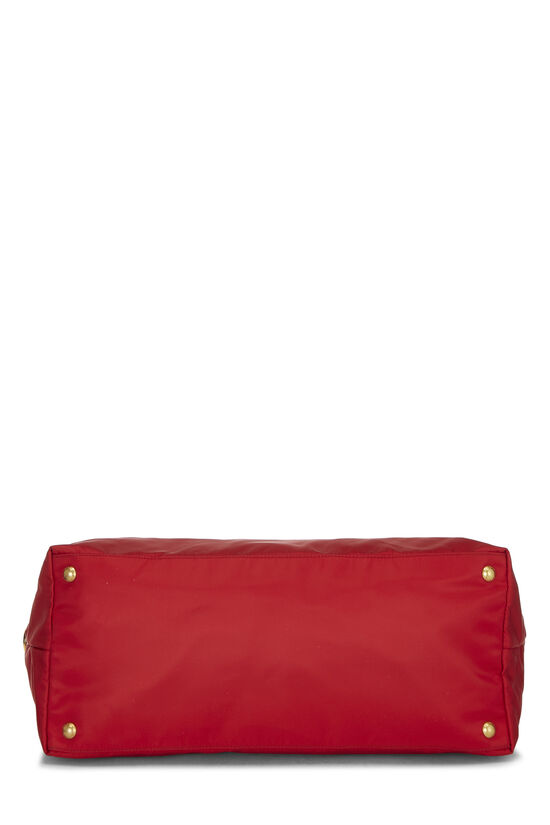 Red Tessuto Nylon Tote XL, , large image number 4