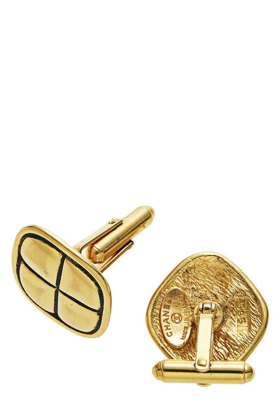 Gold Engraved Cufflinks, , large