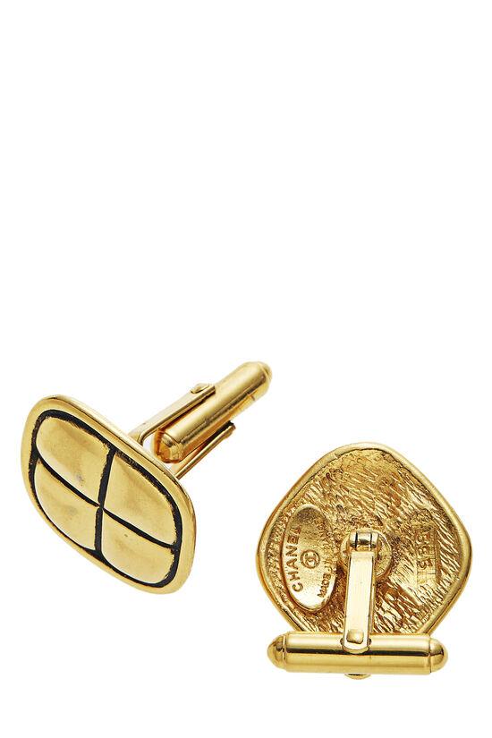 Gold Engraved Cufflinks, , large image number 1