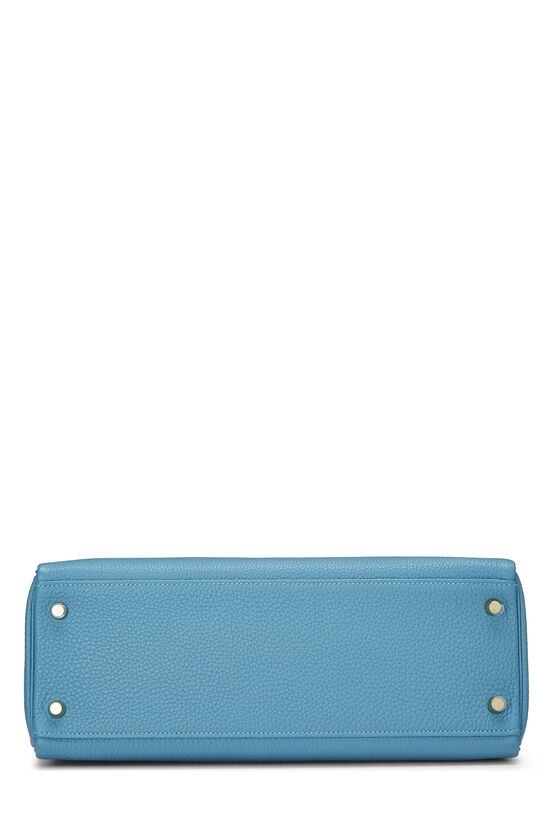 Turquoise Blue Togo Kelly Retourne 32, , large image number 4