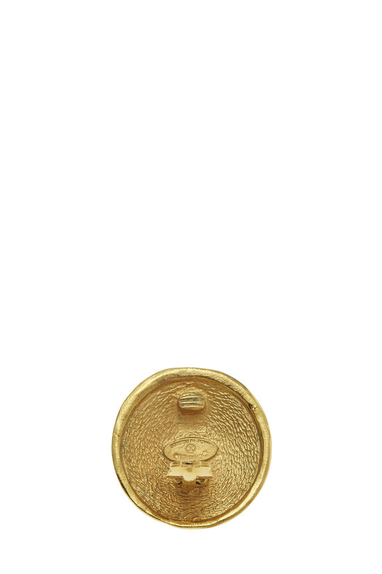 Gold Rue Cambon Engraved Earrings, , large image number 2