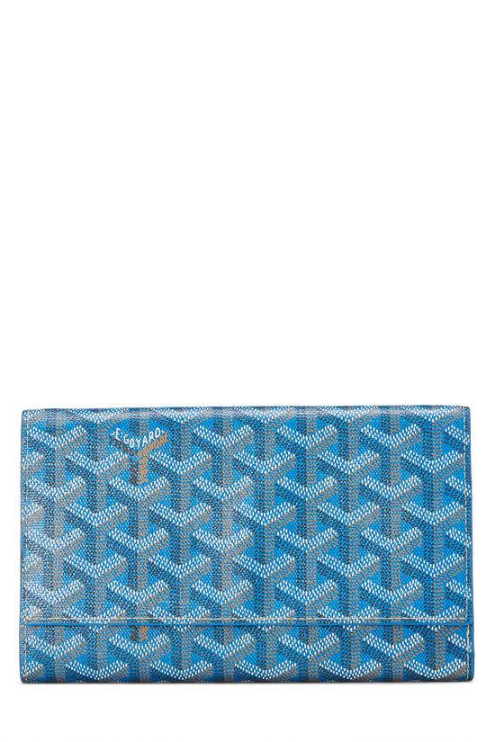 Blue Goyardine Canvas Flap Wallet, , large image number 0