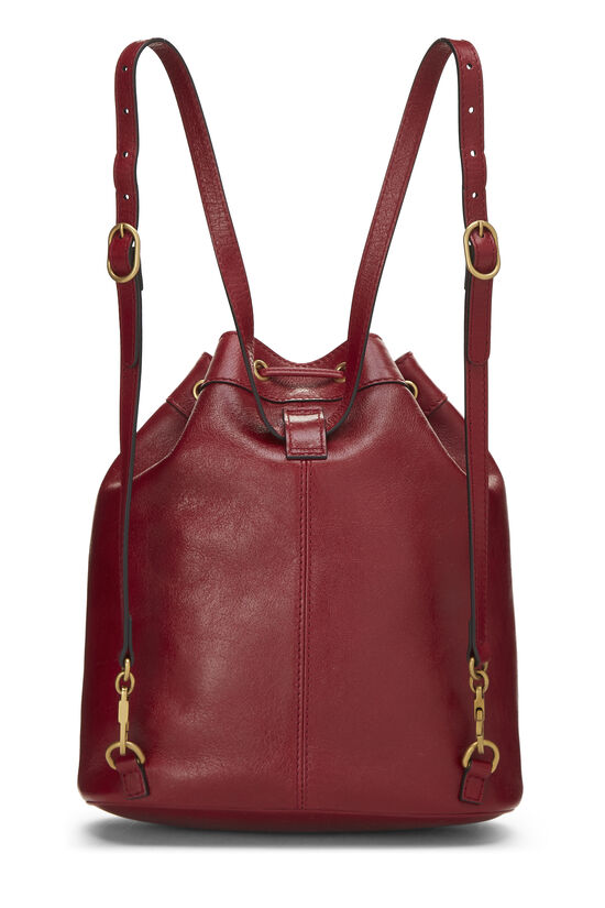 Red Leather (RE)BELLE Convertible Bucket Bag, , large image number 3