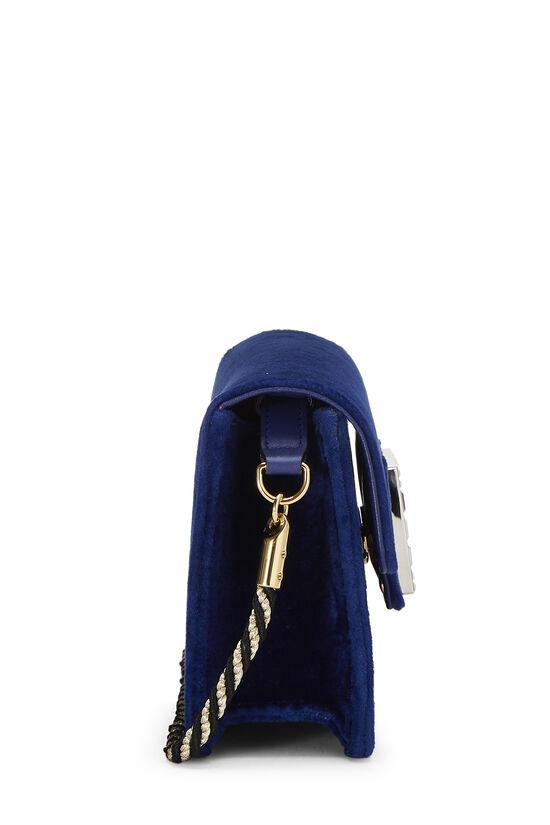 Blue Velour Broadway Crossbody Mini, , large image number 2