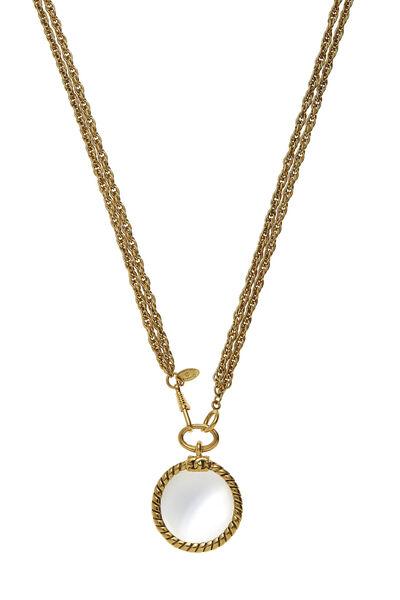 Gold Loupe Long Necklace, , large