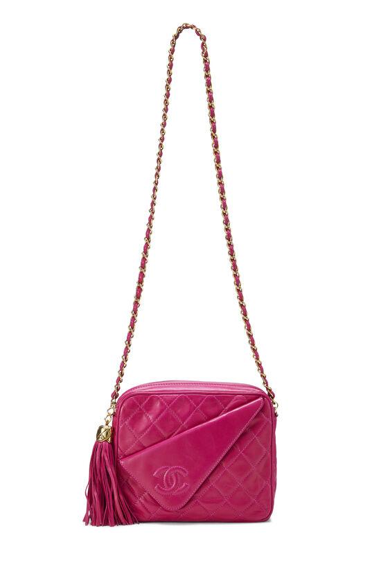 Pink Lambskin Diagonal Camera Bag Small, , large image number 6