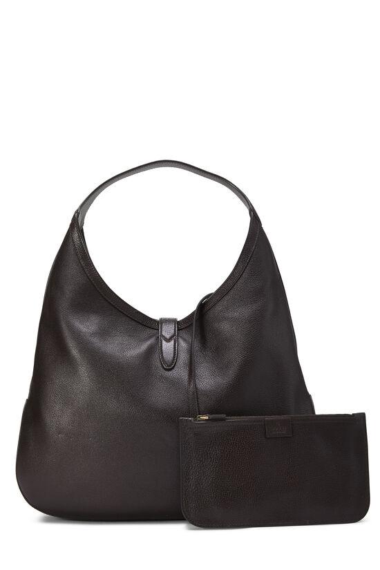 Brown Leather Web Jackie Soft Hobo Large, , large image number 3