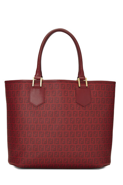 Red Zucchino Coated Canvas Tote