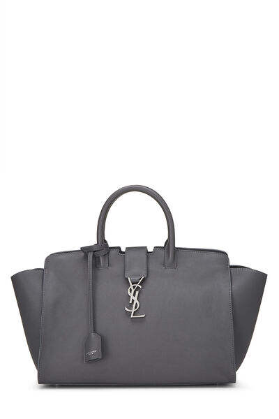 Grey Leather Downtown Cabas Small