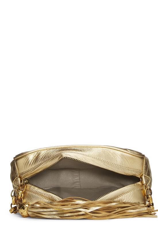 Gold Quilted Lambskin Pocket Camera Bag Mini, , large image number 5