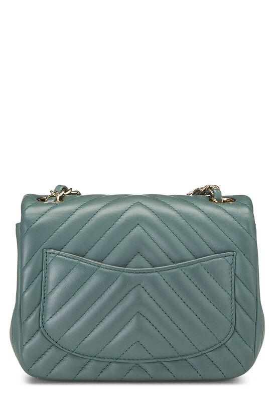 Green Chevron Lambskin Classic Flap Mini, , large image number 3