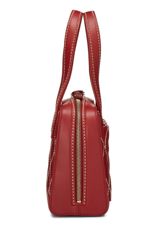 Red Leather Wild Stitch Boston Handbag, , large image number 2