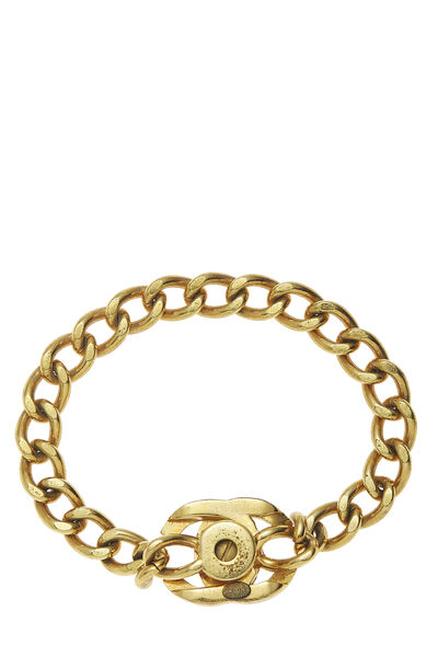 Gold 'CC' Turnlock Bracelet Small, , large
