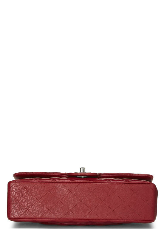 Red Quilted Caviar Classic Double Flap Medium, , large image number 4