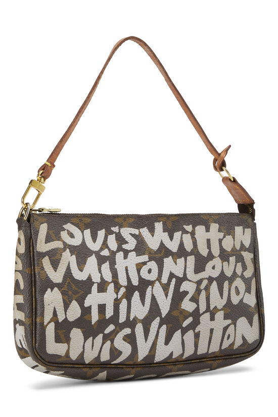 Stephen Sprouse x Louis Vuitton Grey Monogram Graffiti Pochette Accessoires, , large image number 1