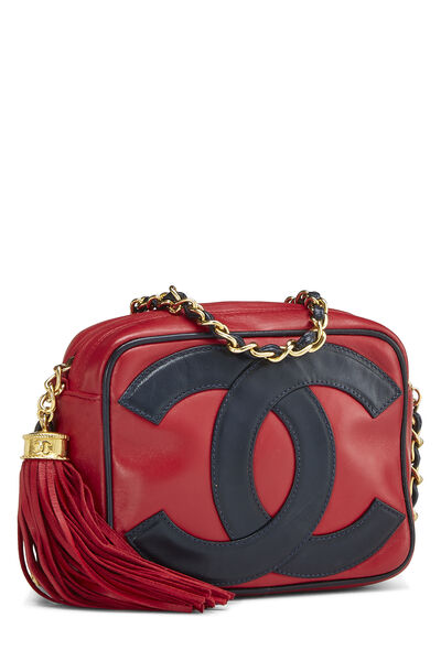 Red Lambskin 'CC' Camera Bag Mini, , large