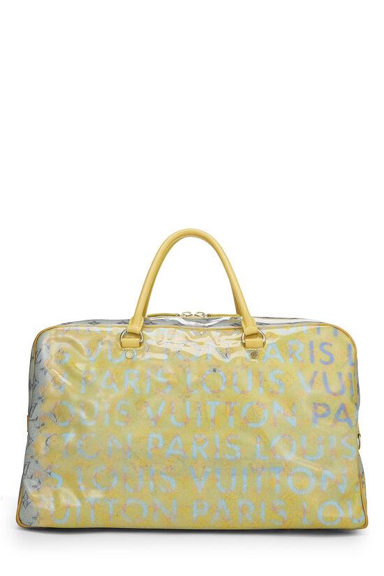 Richard Prince x Louis Vuitton Jaune Denim Pulp Weekender GM, , large image number 3