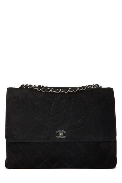 Black Suede Timeless CC Flap Maxi