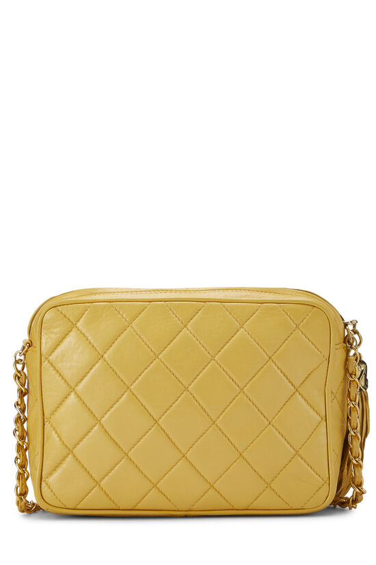 Yellow Quilted Lambskin Pocket Camera Bag Mini, , large image number 4