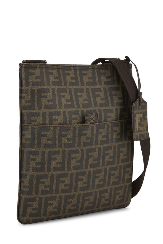 Brown Zucca Coated Canvas Flat Messenger Small, , large image number 2