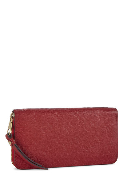 Cherry Monogram Empreinte Zippy Continental Wallet, , large