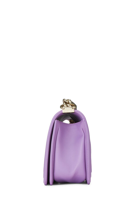 Purple Chevron Lambskin Boy Bag Medium, , large image number 3