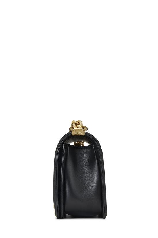Black Quilted Lambskin Boy Bag Medium, , large image number 3