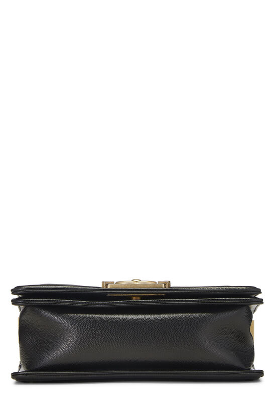 Black Quilted Caviar Boy Bag Small, , large image number 5