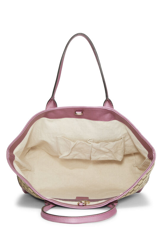 Pink GG Canvas Heart Bit Tote, , large image number 5