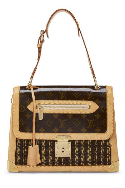 Monogram Tweedy Zip Shoulder Bag