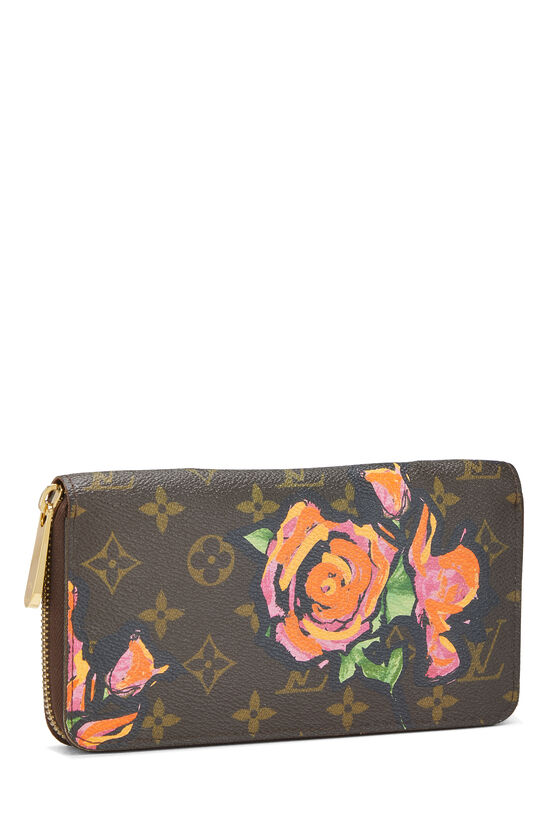 Stephen Sprouse x Louis Vuitton Monogram Roses Zippy Wallet, , large image number 1