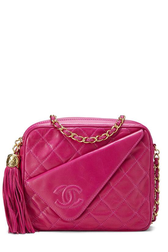 Pink Lambskin Diagonal Camera Bag Small, , large image number 0