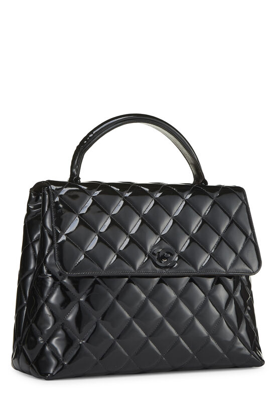 Black Quilted Patent Leather Kelly Jumbo, , large image number 1
