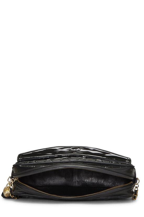 Black Patent Leather Pocket Camera Bag Medium, , large image number 6