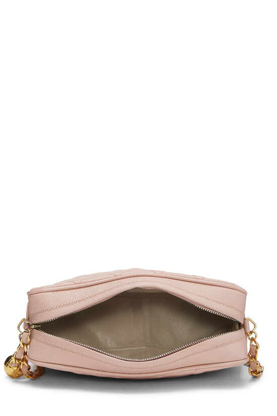 Pink Quilted Caviar Diamond Camera Bag Small , , large image number 5