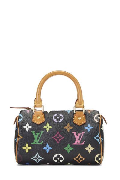 Takashi Murakami x Louis Vuitton Black Monogram Multicolore HL Speedy Mini