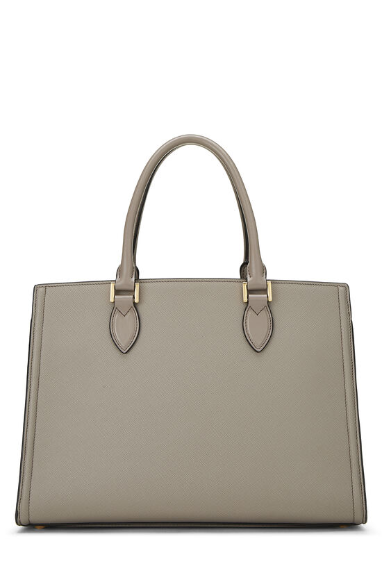 Grey Saffiano Leather Tote, , large image number 3
