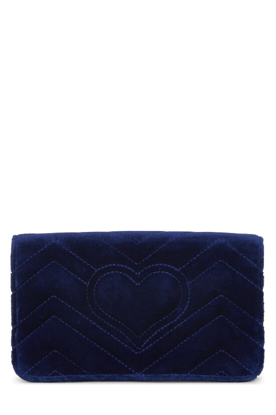 Blue Velvet GG Marmont Wallet on Chain Mini, , large image number 3