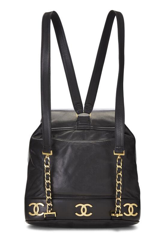 Black Lambskin 3 'CC' Backpack Large, , large image number 3