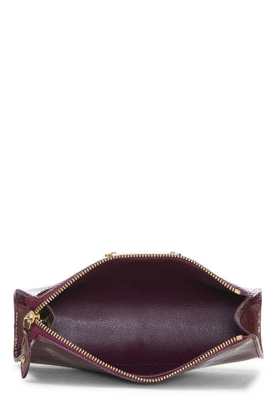 Purple Monogram Vernis Trousse Cosmetic Pouch, , large image number 3