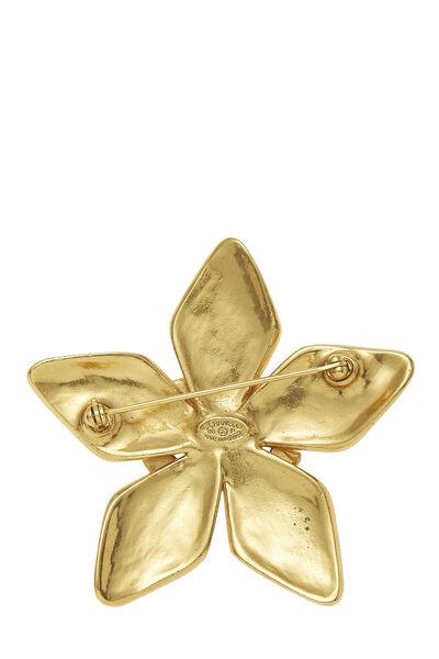 Gold 'CC' Star Pin, , large
