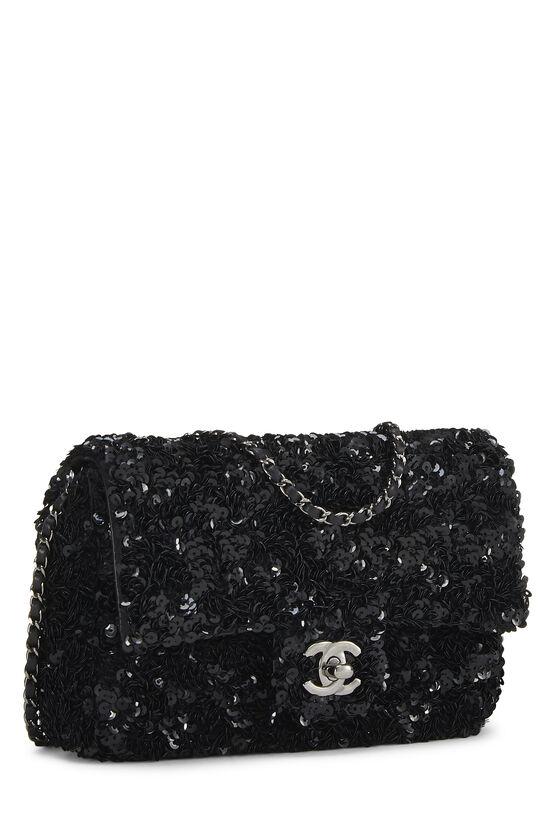 Black Sequin Half Flap Mini, , large image number 2
