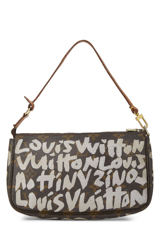 Stephen Sprouse x Louis Vuitton Grey Monogram Graffiti Pochette Accessoires, , large image number 3