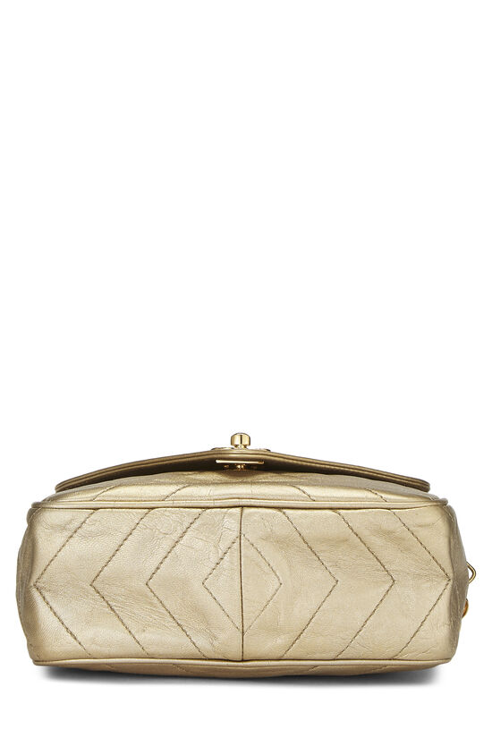 Gold Chevron Quilted Lambskin Pocket Camera Bag Mini, , large image number 5