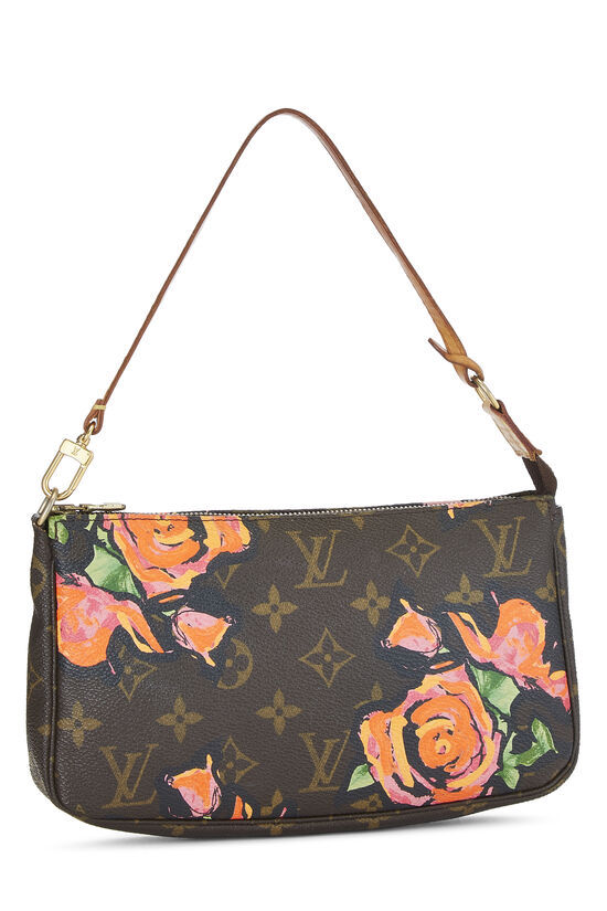 Stephen Sprouse x Louis Vuitton Monogram Roses Pochette Accessoires, , large image number 1