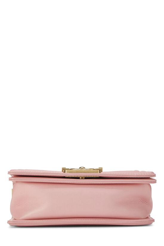 Pink Chevron Lambskin Boy Bag Small, , large image number 5