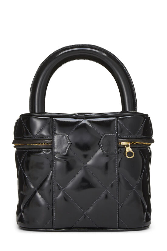 Black Quilted Patent Leather Vanity, , large image number 3